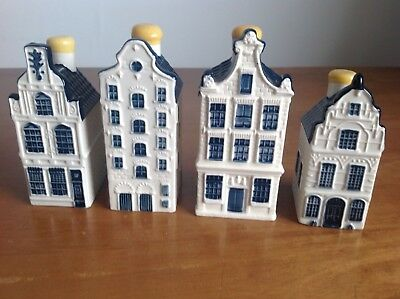 BLUE DELFT KLM BOLS HOUSES Nos. 21, 24, 33 & 80 IN EXCELLENT CONDITION.