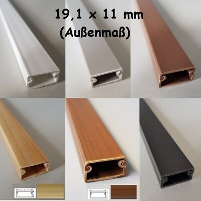 White 1M Cable Channel 19, 1x11mm Self Adhesive (Connector available)