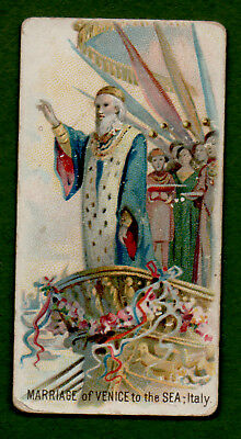 1890 N80 Duke Tobacco Card Holidays Marriage Of Venice To The Sea, Italy