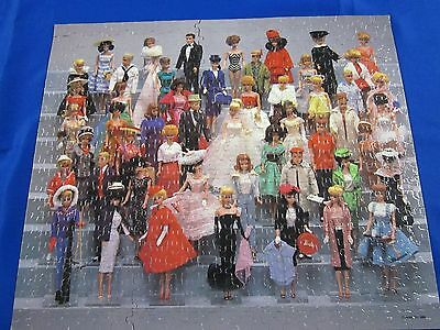 Vintage Barbie Doll Puzzle 1988---Glued And Ready To Frame