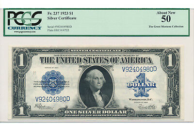 $1 1923 Silver Certificate PCGS 50 About Uncirculated