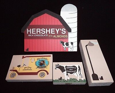 Lot of 4 Cats Meow Pieces Hershey's 1992 Good Condition