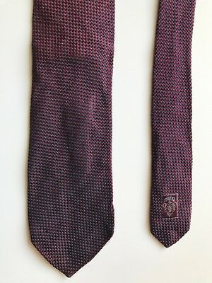 cravatta uomo Gucci seta all pure silk made in italy Classic tie bordeaux 3-3