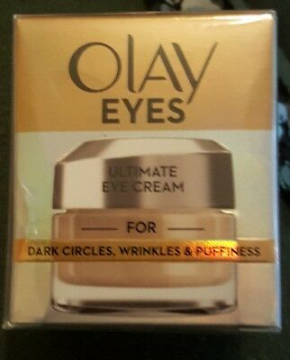 Olay Eyes Ultimate Eye Cream For Dark Circles Wrinkles and Puffiness 15 ml NEW