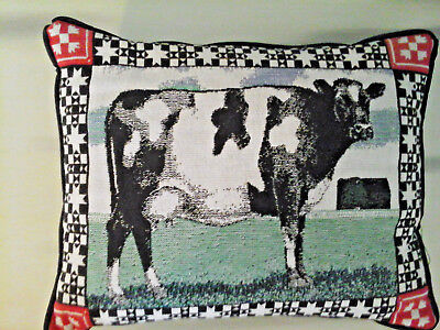 country farm milk cow tapestry decorative throw pillow
