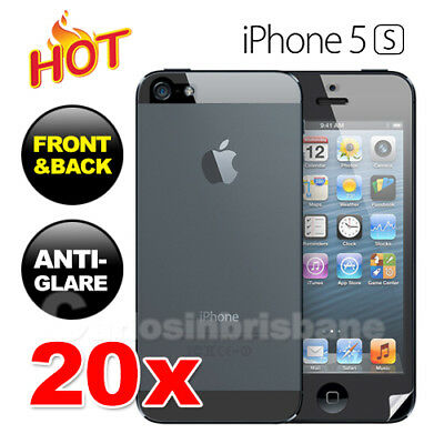20x for Apple iPhone 5 5S Front and Back Anti Glare Matte Screen Protector