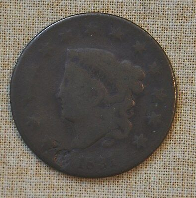 1831 Coronet Head Large Cent - About Good Details