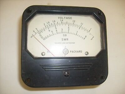 HP Panel Meter  SWR Square Law Detector , DB Voltage /  a6