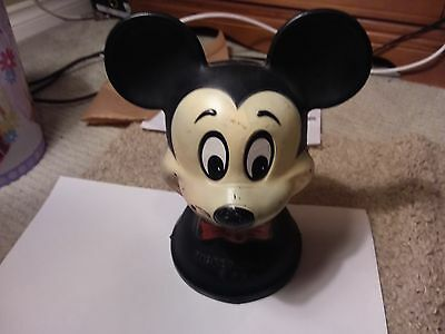 Vintage Mickey Mouse Piggy Bank - 9 1/2 Inches