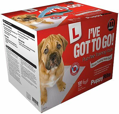 Mikki I've Got To Go Pup-Pee Wee Pads Puppy Training Pads 7, 50 100 Pack