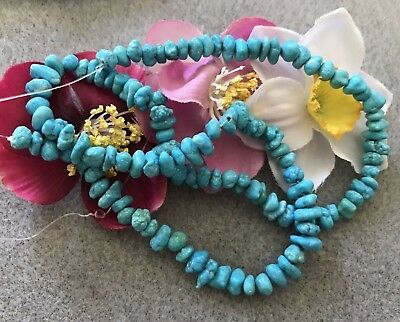 """Gorgeous Sleeping Beauty Turquoise Nugget Beads, 15 1/2 """" Temporary Strand"""