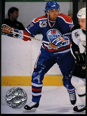 Scott Mellanby #173  Oilers Pro Set Platinum 1991-2 Ice Hockey Card (C542)