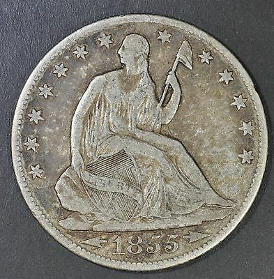 1855-O Seated Liberty Half Dollar - With Arrows - Better Date (4276)