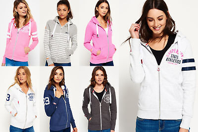 New Womens Superdry Hoodies Selection - Various Styles & Colours 1110