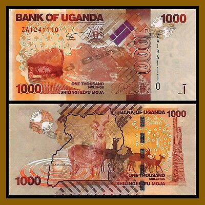 Uganda 1000 (1,000) Shillings, 2015 P-49 Replacement ZA  Unc