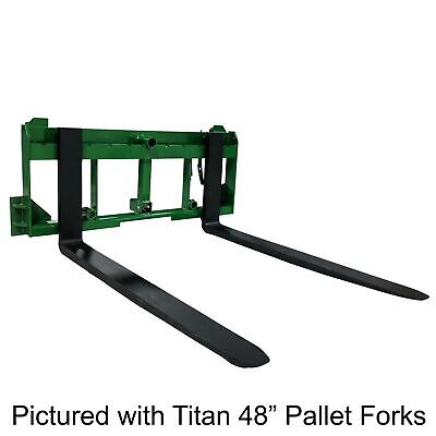 "UA Made in the USA 48"" Pallet Fork Hay Bale Spear Attachment w/ Hitch Fits JD"
