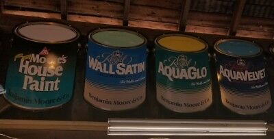 4 Benjamin Moore Paint Can Display Signs (Rare Pieces )