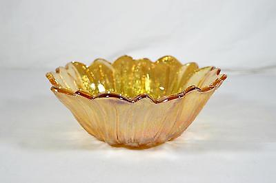 Indiana Glass Marigold Carnival Glass Sunflower Bowl