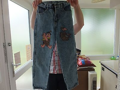 vintage kids bill stunt quality jeans 100% cotton waist size 25inc lenght 35inc