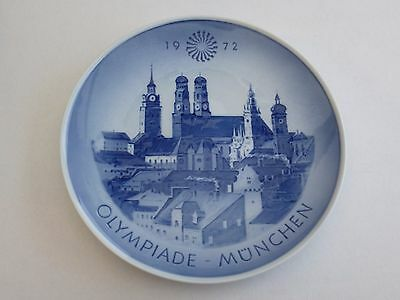 *royal Copenhagen Blue & White 1972 Munich Munchen Germany Olympics Plates*