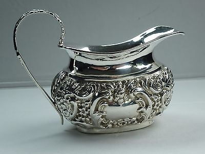 *LOVELY ANTIQUE EDWARDIAN CHESTER 1902 92.2g NATHAN & HAYES SILVER CREAM JUG*