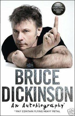 Bruce Dickinson Iron Maiden Button Do Autobiography Music Rock Metal Gift Book