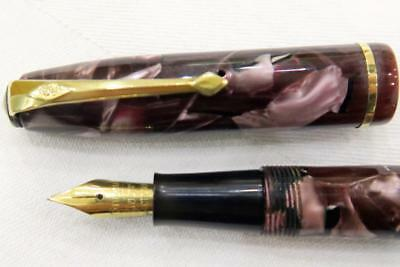 Conway Stewart 85 Fountain Pen, Mauve Marbled & Black Flecks, Fully Serviced