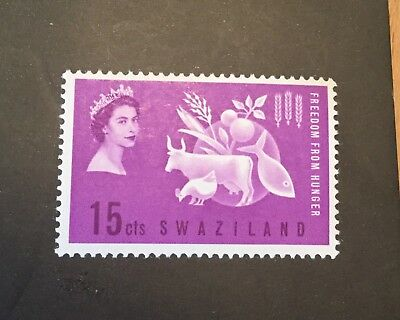 Swaziland 1963 SG 106 15c violet Freedom From Hunger MH