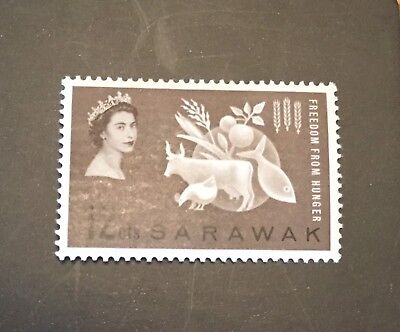 Sarawak  1963 SG 203 12c sepia Freedom From Hunger MH