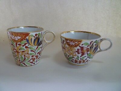 Antique Porcelain Chamberlain Worcester Tea And Coffee Cup, Pattern 276 A/f
