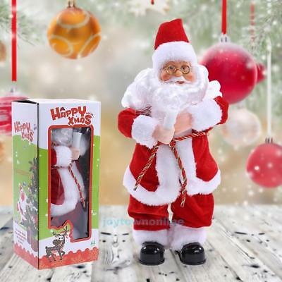 Christmas Santa Claus Figure Electric Toy Dancing w/ Sound Party Decor Kids Gift