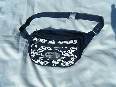 SurfWave Hawaiian Classics Navy & White Floral Print Fanny Pack