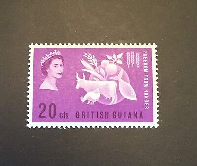 British Guiana 1063 SG 349, 20c violet. Freedom From Hunger violet. MH