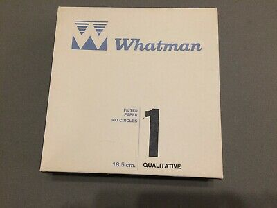 NEW, Whatman Qualitative Filter Paper 18.5 cm, 100 Filters/Box