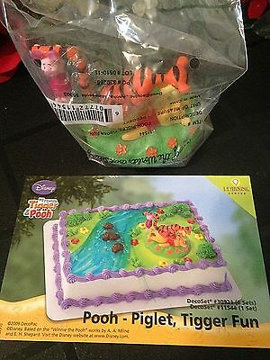 DecoPac WINNIE POOH PIGLET TIGGER FUN BIRTHDAY CAKE TOPPER DECORATING KIT NEW
