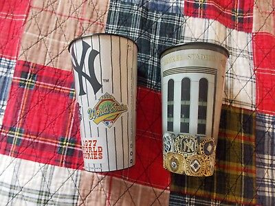 Two Yankees Plastic Cups