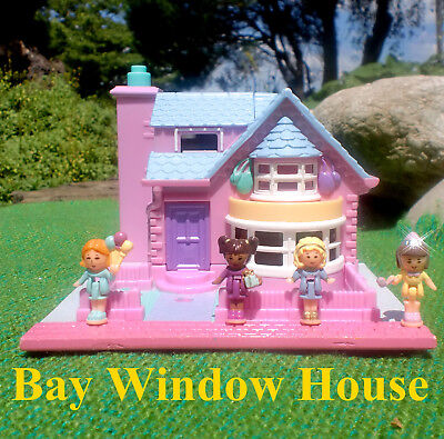 🌟💕💚POLLY POCKET Mini💚💕🌟 Bay Window House Villa/Haus mit Erker & Licht!