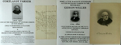 Civil War Republican Slavery Abolitionist Judge Letter Signed/navy Secy Welles !