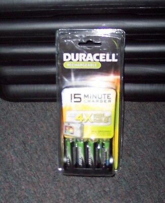 New Duracell 15 Minute Aa/aaa Nimh Mobile Charger With 4 Aa 2400 Mah Batteries