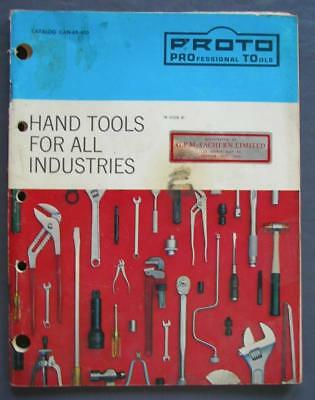 Original Proto Professional Hand Tools For All Industries Vintage Catalog 104 Pg