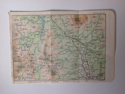 Scotland, Loch Doon, Rhinns Of Kells, 1890, Antique Map, Bartholomew, Original