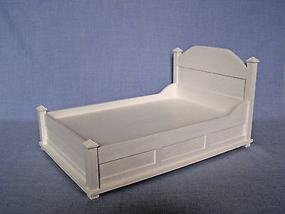 Double Bed for 12 inch doll 1:6 scale Bedroom Furniture Barbie size Dollhouse