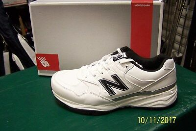 NEW 2017 NEW BALANCE NBG1701 GOLF SHOES MENS 9 2E (Wide) Leather White/Black NIB