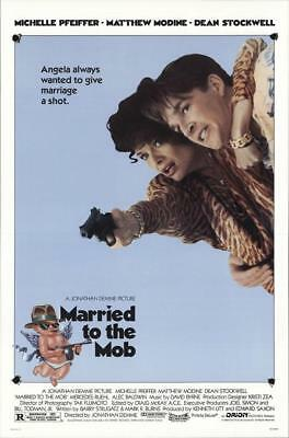 """MARRIED TO THE MOB - 27""""x41"""" Original Movie Poster One Sheet 1988 Rolled Rare"""
