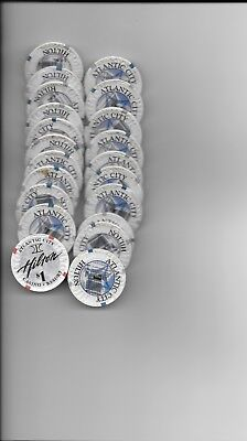 Big Lot Or Collection $1 Casino Chips-HILTON HOTEL-Atlanctic City, NJ-20 Chips