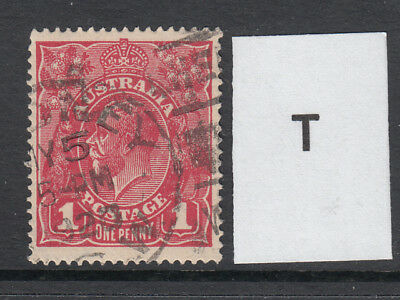 KGV 1d Carmine Large Multi. WMK (Good used)