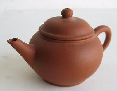 Fine Old Chinese Yixing Clay Ceramic Pottery Teapot SIGNED