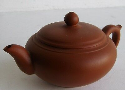Fine Old Chinese Yixing Clay Ceramic Pottery Scholar's Teapot SIGNED