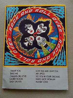 """Kiss ~ Rare """"rock And Roll Over"""" Official Songbook"""
