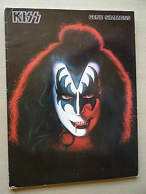 """Kiss ~ Very Rare """"gene Simmons"""" Official Solo Songbook"""